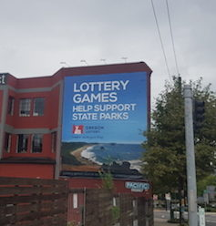 Billboard for Oregon's lottery