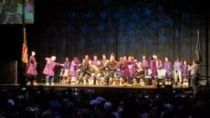Photo of dance group at AFN in Fairbanks